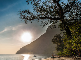 Der Strand der Insel Rakata. (c) Tobias Schorr