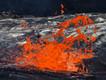 Explodierende Gasblase im Lavasee des Erta Ale Vulkans (c) Tobias Schorr