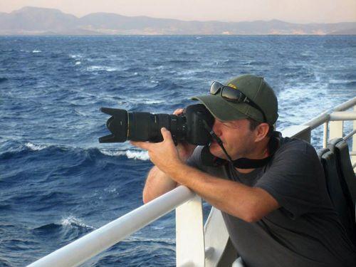 Tobias Schorr beim Fotografieren
