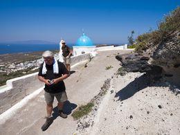 An der Kirche Agios Charalambos auf Thirasia (c) Tobias Schorr