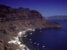 Die Bucht Korfos von Thirasia