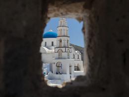 Kirche, Pyrgos/Santorini (c) Tobias Schorr, April 2017