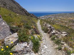 Der Wanderweg von Alt-Thera nach Perisa ist für jeden geeignet, der trittsicher ist und regelmäßig wandert. (c) Tobias Schorr, April 2017