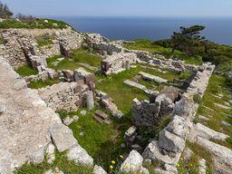 Antike Villa auf dem Plateau der antiken Stadt Thera.