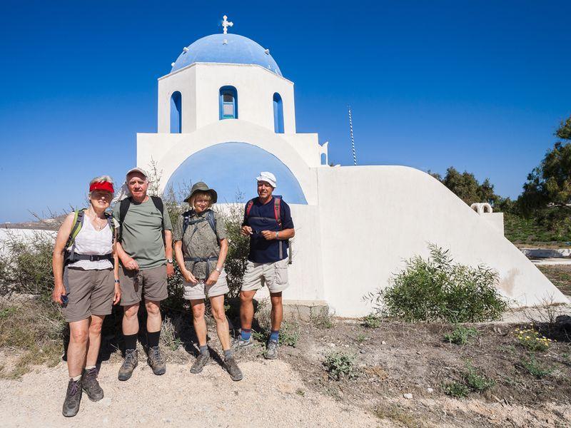 Pause an der Kapelle Agia Anna bei Akrotiri. (c) Tobias Schorr
