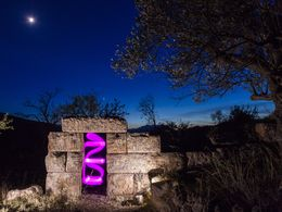 """""""Violette Phase"""" beleuchtet mit: Leuchtdioden, Samsung S5, App Lampe mit Farbeffekt. (c) Tobias Schorr"""