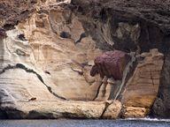 Die Piratenfelsen an der Küste von Milos