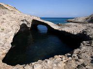Natürliche Steinbrücke an der Nordküste